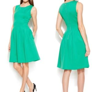 Calvin Klein Green Fit and Flare Dress